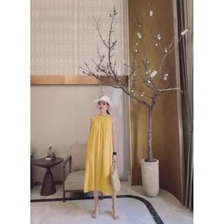 Váy Maxi Cổ Yếm – Váy Đũi Dáng Dài