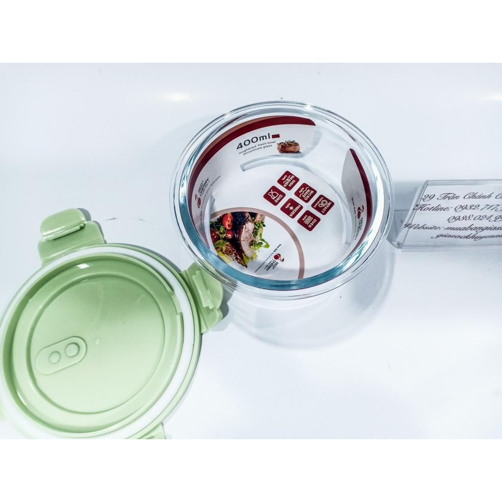 hộp thủy tinh cao cấp Glass food hình tròn