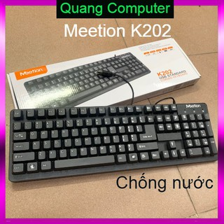 ( Qúa rẻ ) Bàn Phím Văn Phòng Meetion K202 Chính Hãng- Chống đổ nước thumbnail