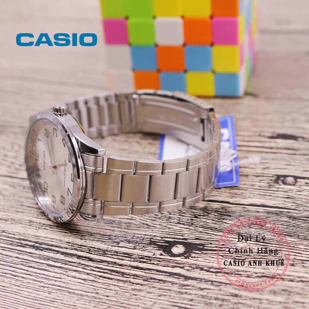 Đồng hồ nam Casio MTP-V001D-7BUDF dây kim loại