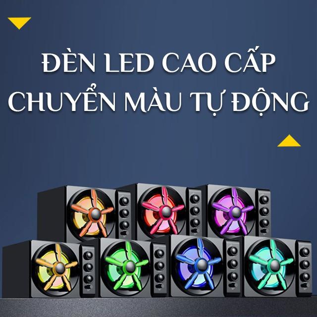 {HOT} Bộ Loa Máy Vi Tính SADA D-215 Phiên Bản 2020 Hỗ Trợ Bluetooth Đèn Led Đổi Màu Cao Cấp - Âm Thanh Vòm 3D Siêu Trầm