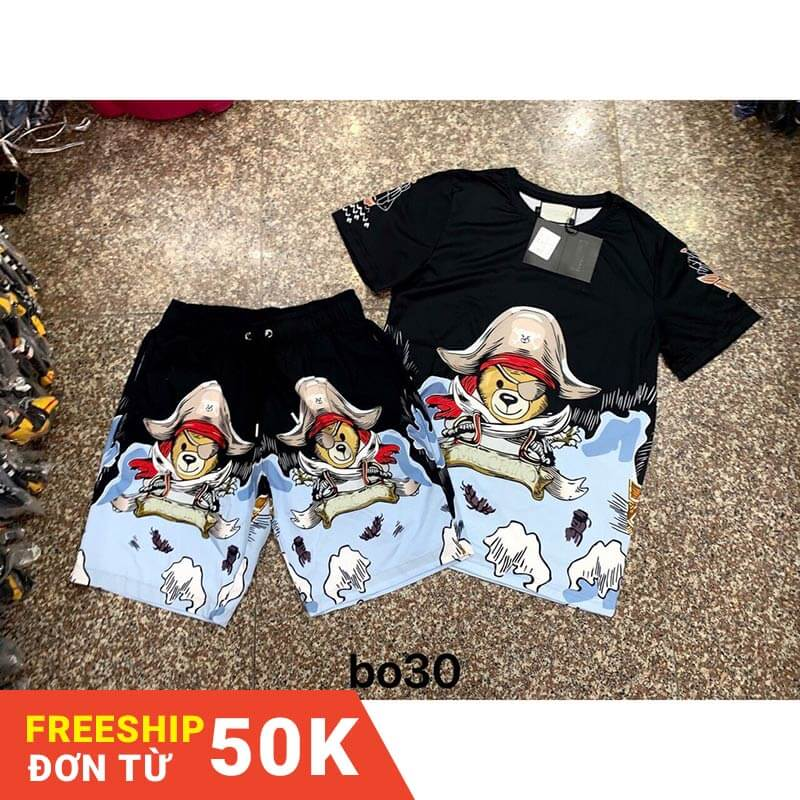 Freeship 50k-bộ thun thời trang nam hè 3D HẢI TẶC