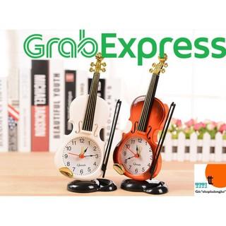Đồng hồ báo thức để bàn hình cây đàn violin sáng tạo ( Mã: DB03)