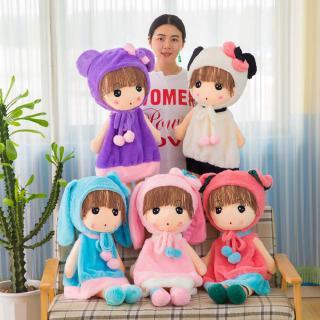 Búp bê nhồi bông bằng vải nhung dễ thương cho bé gái