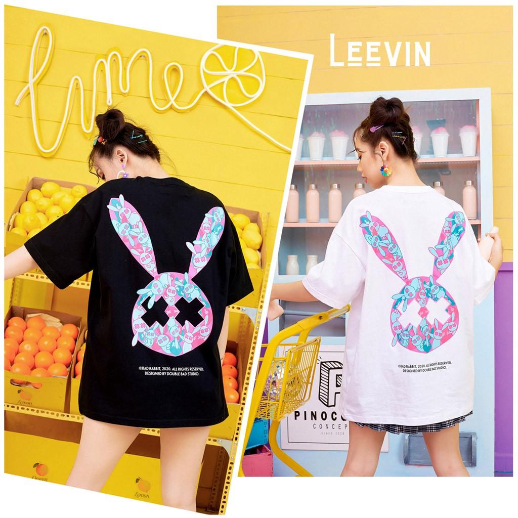 [Mã WASEPRN hoàn 20% xu đơn 99k] Áo thun Bad Rabbit UNISEX Nam Nữ Form Rộng OVER POPULATER [TE-BR05] Leevin Store