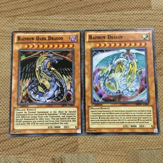 """Thẻ bài yugioh TRUNG QUỐC, Bộ đôi rồng thần """"Rainbow Dragon"""" và """"Rainbow Dark Dragon"""""""