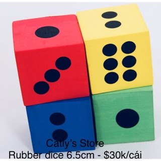 [Nhập TOYAPR10K giảm ngay 10K]Rubber dice 6.5cm – Xí ngầu cao su 6.5 cm