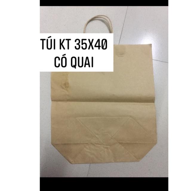 Combo 50/100 túi giấy có quai loại túi 5 kt 35x40