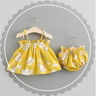 Set đầm hoa + quần lót + băng đô xinh xắn dành cho bé gái 🍄FREESHIP🍄 Váy Cho Bé/ Váy Đầm Cho Bé Hàng Thiết Kế 1-8 Tuổi