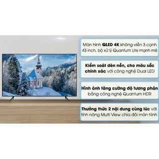 Smart Tivi Qled Samsung 4K 43 inch QA43Q60T.MODEL2020(HÀNG NEW NGUYÊN SIÊU BẢO HÀNH CHÍNH HÃNG 2 NĂM)