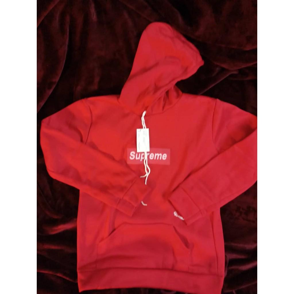 Áo Hoodie Supreme Unisex Nam Nữ Đỏ Hình Thêu