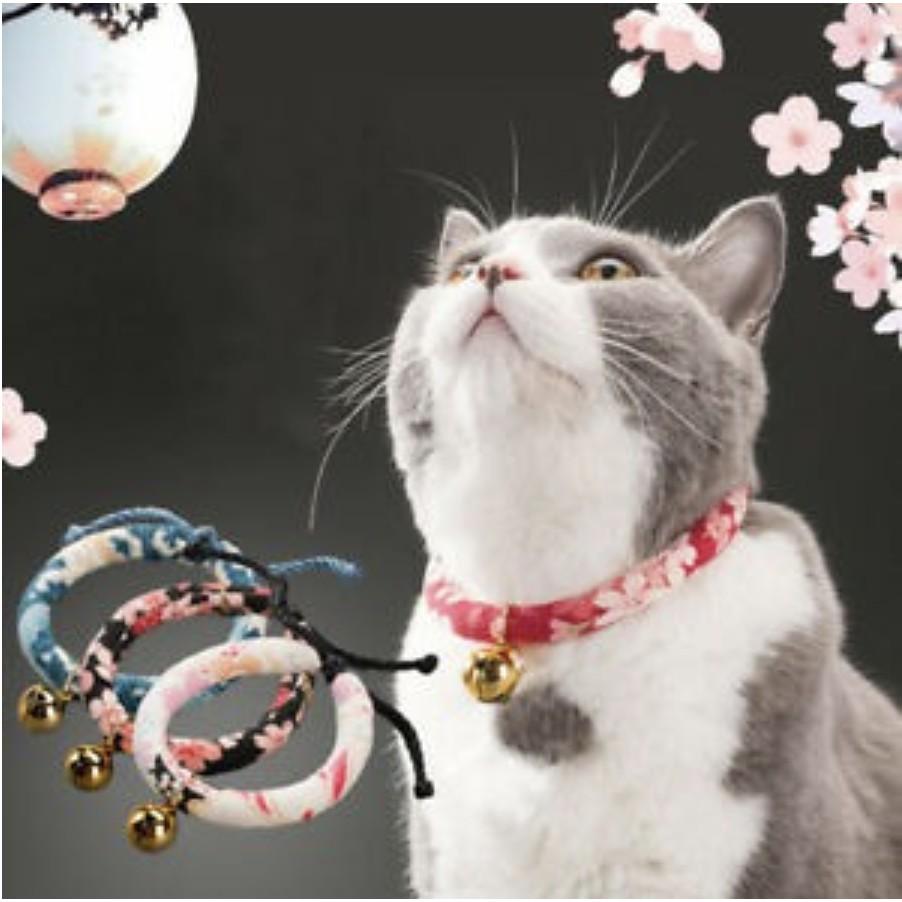 [Mã 267FMCGSALE giảm 8% đơn 500K] Vòng cổ cho mèo kèm chuông vàng phong cách Nhật Bản