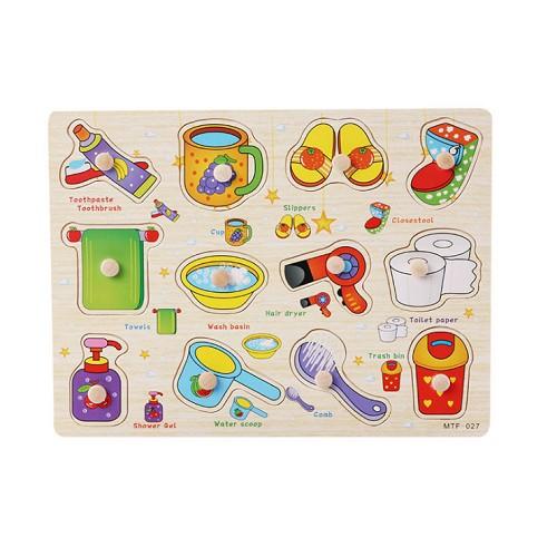 Đồ chơi 002-bảng công cụ nhà tắm có núm DCF0057 (rẻ thanh lý)