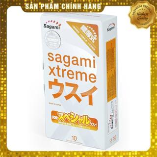 Bao Cao Su Siêu mỏng 10 chiếc Sagami Xtreme Super Thin – Nhật Bản