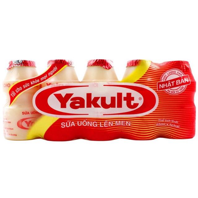 Sữa chua uống lên men Yakult - lốc 5 chai x 65ml