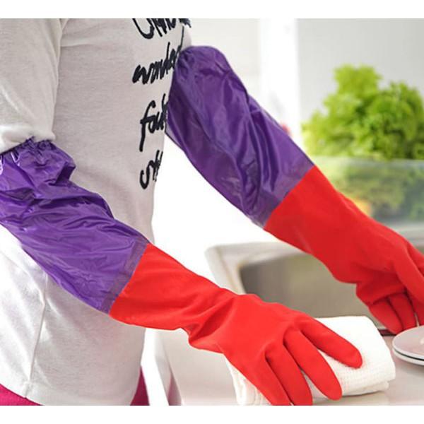 Găng tay cao su rửa bát nót nỉ giữ ấm