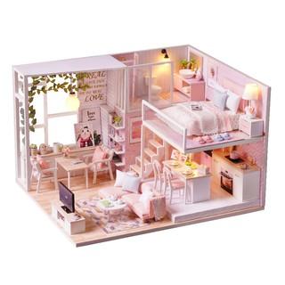 Bộ mô hình nhà gỗ DIY: Căn Nhà Pink House L 022