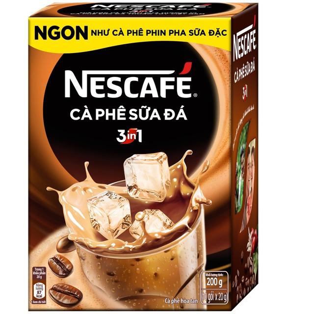 [Mã GRO1NEST88 giảm 15% đơn 150K] Hộp 10 gói x 20g NESCAFE Café Cà phê sữa đá