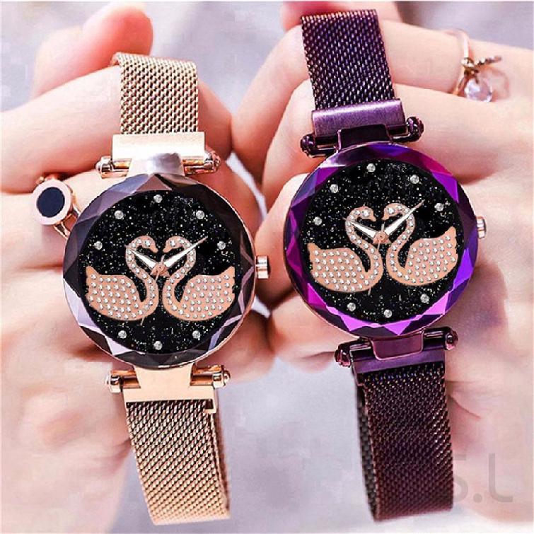 COD นาฬิกาแฟชั่นสตรีนาฬิกาแม่เหล็กดาวดาวดีลักซ์ 145