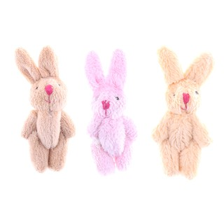 MUL❤ Cute Soft Mini Joint Rabbit Pendant Plush Bunny Toy Doll DIY Key Cha