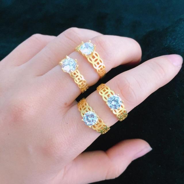 Nhẫn kim tiền đính đá xi vàng - 2816323 , 1065961849 , 322_1065961849 , 120000 , Nhan-kim-tien-dinh-da-xi-vang-322_1065961849 , shopee.vn , Nhẫn kim tiền đính đá xi vàng