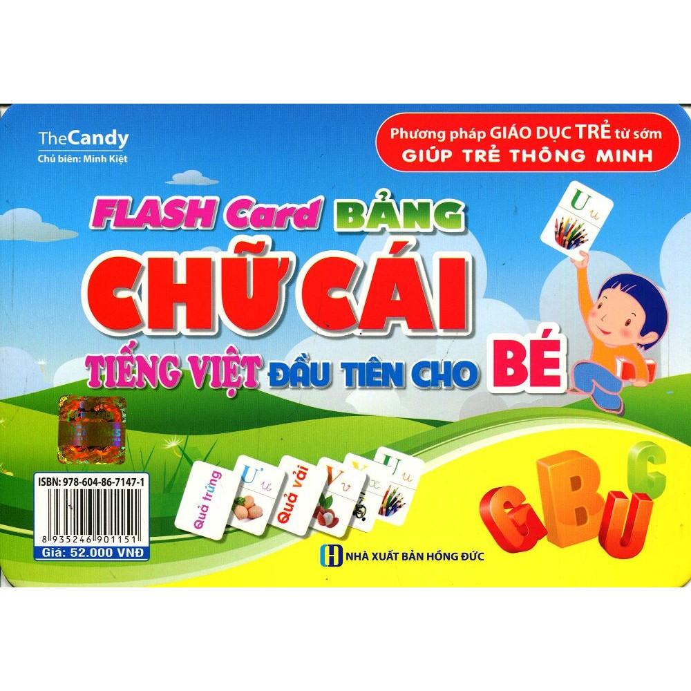 Flashcard Dạy Trẻ Theo Phương Pháp Glenn Doman - Bảng Chữ Cái Tiếng Việt Đầu Tiên Cho Bé
