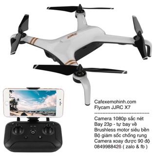 Flycam jjrc x7 gps camera 1080p bay 23p brushless motor – tự bay về