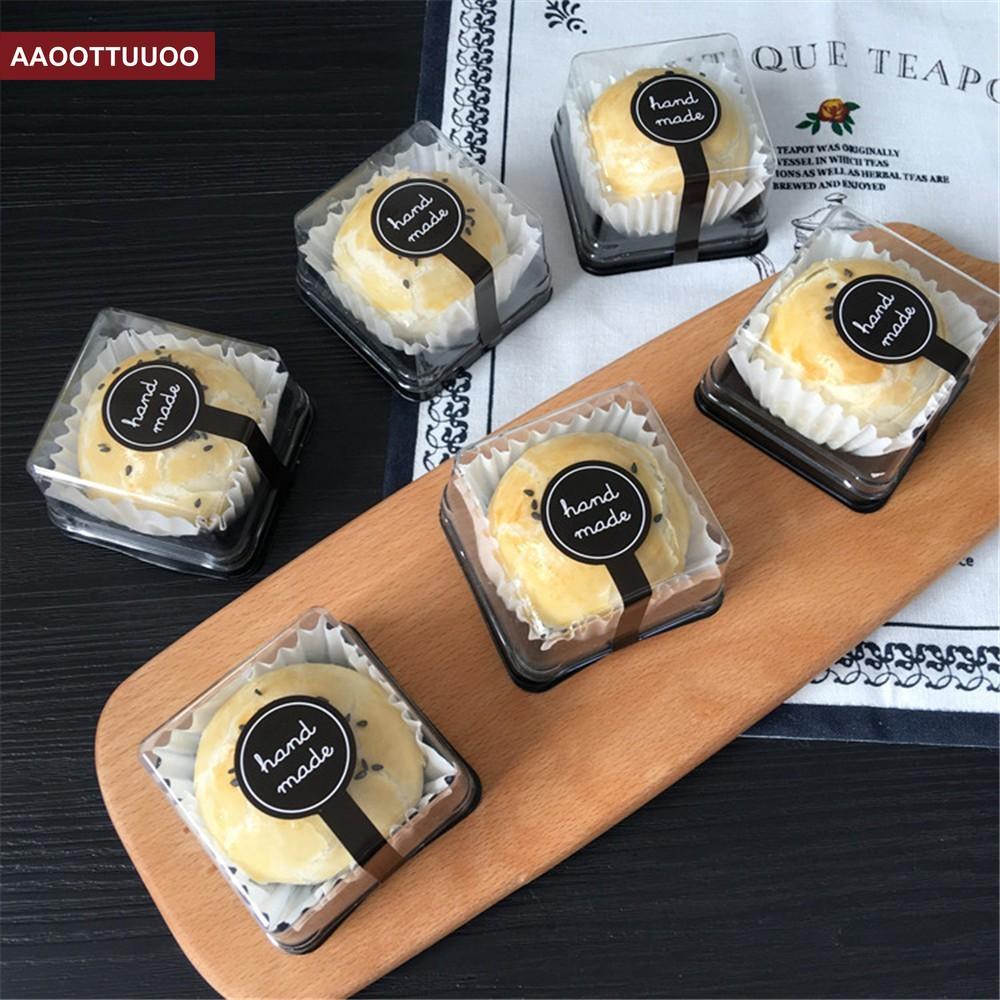 Set 10 Nhãn Dán Chữ HANDMADE Đánh Dấu Bánh Pudding Màu Đen
