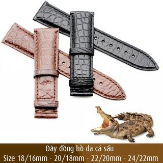 Dây đồng hồ da cá sấu, da thật cao cấp, dây không bao gồm khóa - Mã số: D1813