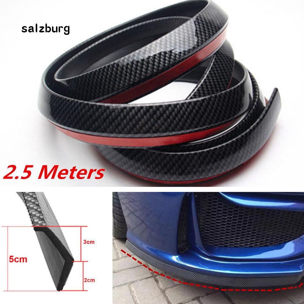 FHUE_2.5m Soft Rubber Car Styling Front Bumper Trim Strip Guard Protector Sticker