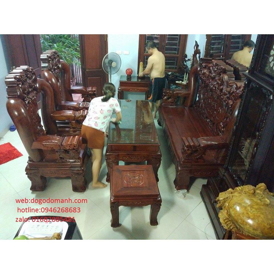 Bộ Bàn Ghế Rồng Đỉnh Hương Vân Tay 18 - Hàng 6 - 10 - 1
