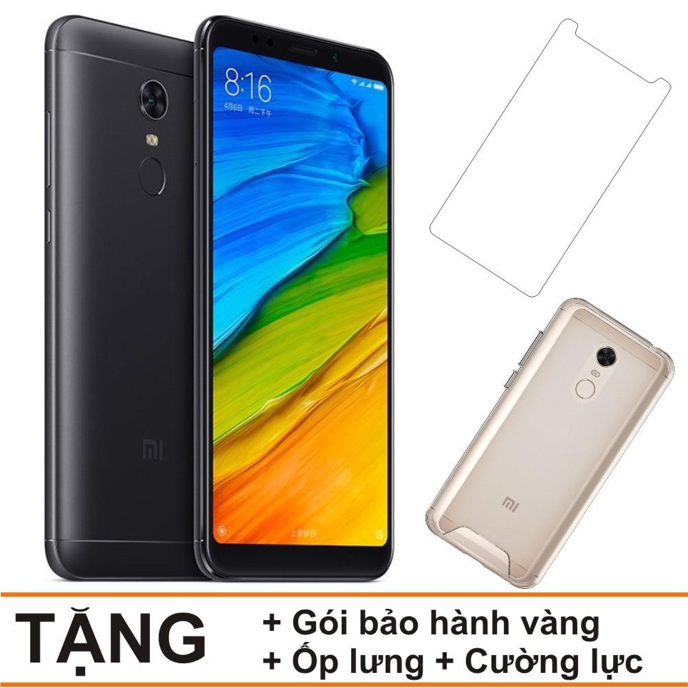 Combo Điện thoại Xiaomi Redmi 5 - 32GB Ram 3GB - Hàng nhập khẩu + Gói bảo hành vàng + Cường lực + Ốp
