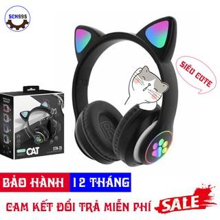 [BẢO HÀNH 12 THÁNG] Tai Nghe Chụp Tai Headphone Bluetooth Không Dây TN-01 Tai Mèo FREE SHIP - Tai Nghe Mèo Dễ Thương thumbnail