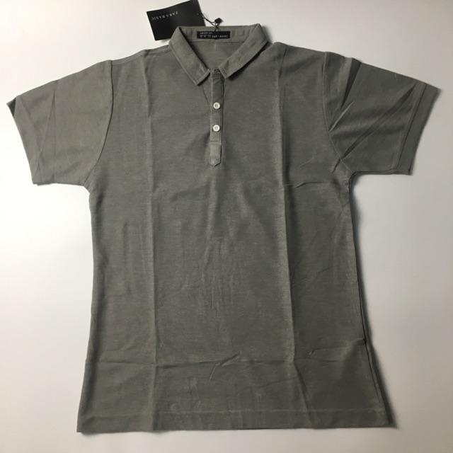 Áo thun polo cotton Zara basic xám ghi  VNXK