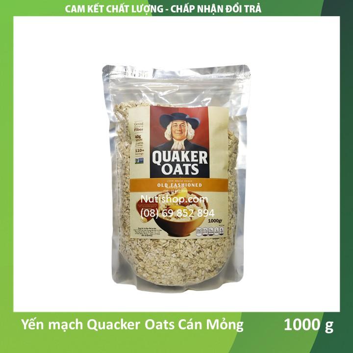 Yến mạch Cán mỏng Quacker Oats Mỹ 1000 g Yến mạch Cán mỏng Quacker Oats Mỹ 1000 g