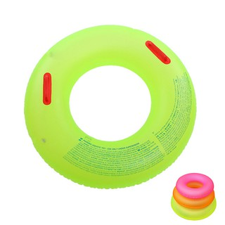 Adult Children Summer Inflatable Color Random Swim Ring Swimming Pool Boardw KIZT