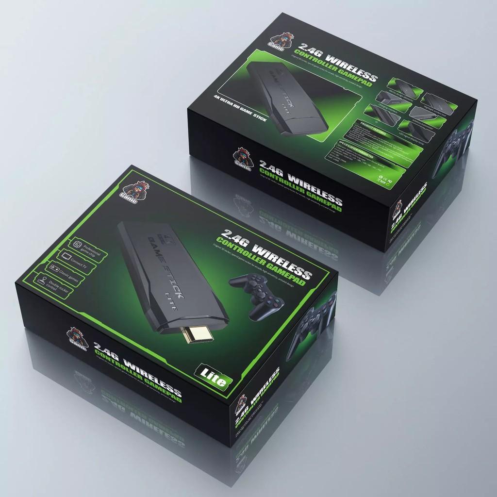 Game Stick 4k Sẵn Hơn 3500+ game - Kết nốii chơi game điện tử không dây PS3000