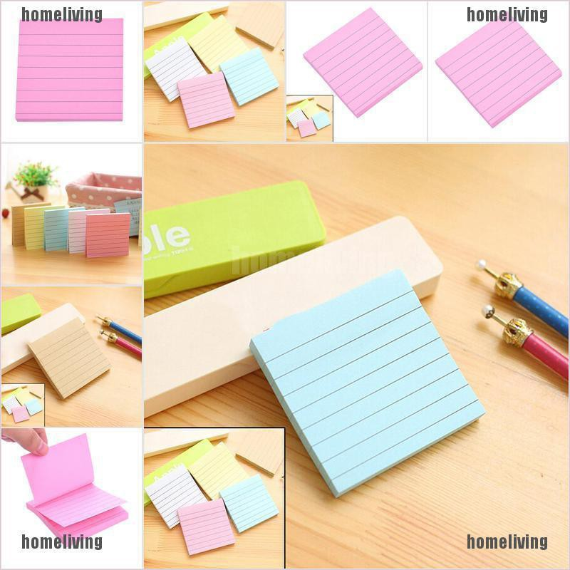 【homeliving】Sticky Notes Notebook Memo Pad Bookmark Paper Sticker Notepad Stationery Random