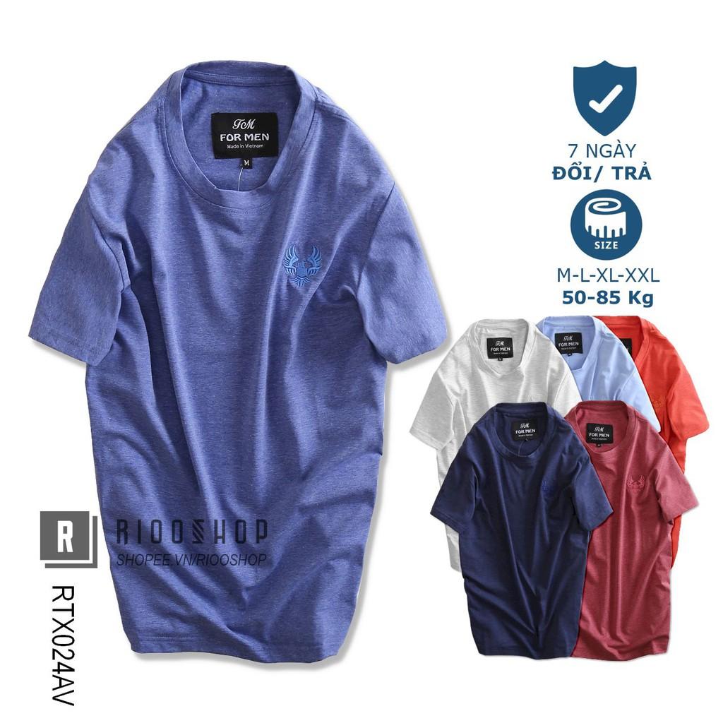 Áo thun nam ngắn tay trơn cao cấp chuẩn shop eagle RTX024av - áo phông nam cotton Riooshop