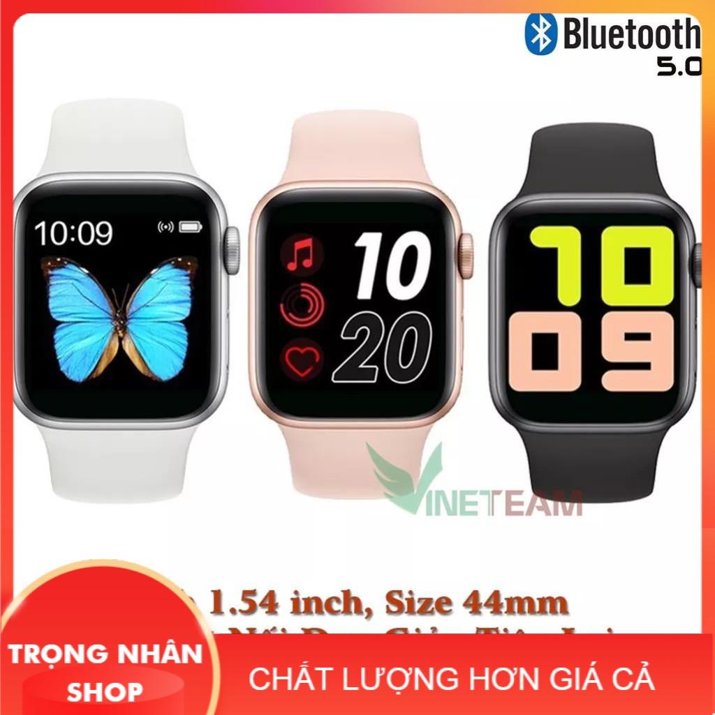 (BẢO HÀNH 6 THÁNG) Đồng Hồ Thông Minh T500+ Seri 6 Thay ảnh tùy ý Nghe gọi kết nối bluetooth 5.0 44mm