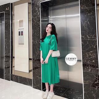 Váy xuông dài, Đầm suông bầu bigsize chất cotton Gemmy House in chữ Tobe thumbnail