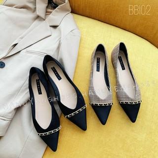 Bệt nữ HHS mũi captoe xích Hà Huyền Shoes - BB102