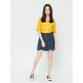 [Mã FASHIONMALLT4 giảm 15% đơn 150k] Chân váy jeans nữ H CONNECT 3021115209910 thumbnail