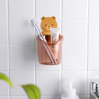 Combo 4 Giá đựng bàn chải hình gấu xinh xắn Móc đựng bàn chải trong nhà tắm