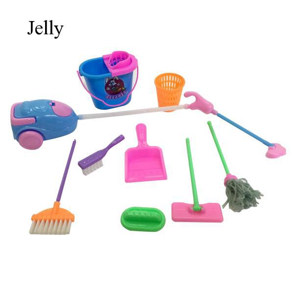 9pcs Girl Doll Accessories Cleaning for House Girls Birthday Gift Colors J31