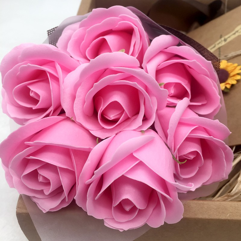 ◕Valentine's day 520 creative birthday girl soap roses send girlfriend girlfriends mother's gift box