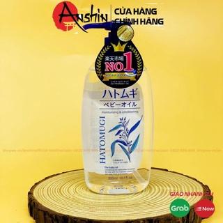 Dầu dưỡng da toàn thân cho bé Kumano Reihaku Hatomugi chiết xuất hạt ý dĩ 300ml Anshin Cosmetic thumbnail