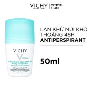 Lăn khử mùi và khô thoáng vùng da dưới cánh tay 48H Vichy Anti-Transpiration 50ml