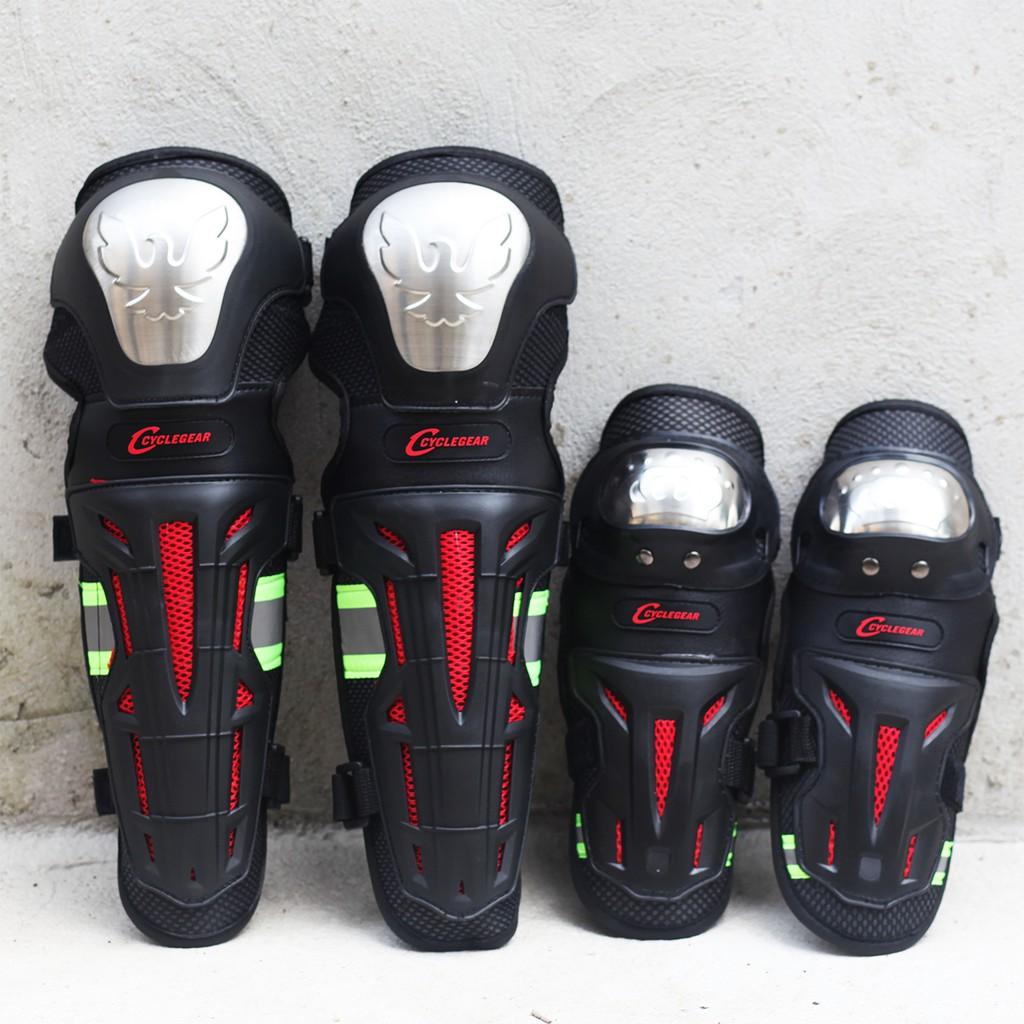 Giáp bảo vệ chân tay Inox Đại bàng | Giáp chân tay| Đồ phượt giá rẻ