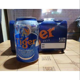 1 lốc bia tiger 6 lon 330ml Hsd 6/2021
